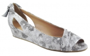 Slipper in Grau/Silber