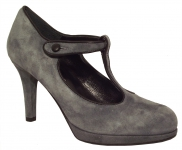 Spangenpumps in Grau